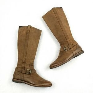 Cole Haan Petra Leather Riding Boots Size 6.5B